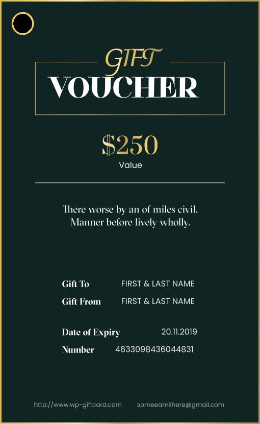 New Gift Voucher